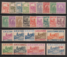 Tunisie - 1926-28 - N°Yv. 120 à 146 - Série Complète - Neuf  Luxe ** / MNH / Postfrisch - Unused Stamps