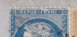 23530# CERES N°60 I GRANDE CASSURE + 59 LETTRE Obl GRAY 1872 T17 HAUTE SAONE CERNAY SENNHEIM MULHOUSE FER A CHEVAL - 1849-1876: Classic Period