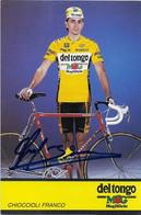 CARTE CYCLISME FRANCO CHIOCCIOLI SIGNEE TEAM DEL TONGO 1991 - Cycling