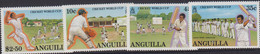 ANGUILLA - 1987 - CRICKET WORLD CUP SET OF 4 MINT NEVER HINGED ,SG CAT £15+ - Anguilla (1968-...)