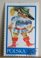 MZ35 - POLONIA 1968 - FRANCOBOLLO USATO 20gr - FIABE - IL GATTO CON GLI STIVALI - Used Stamps