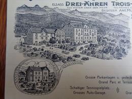 FACTURETTE VIERGE - 67- DEPARTEMENT DU BAS-RHIN - HOTEL & VILLA NOTRE DAME, ALSACE - Non Classés