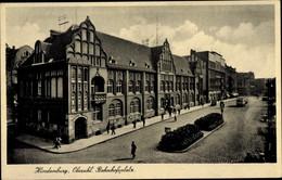 CPA Zabrze Hindenburg Schlesien, Bahnhofsplatz - Schlesien