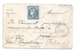 - CALVADOS - CAMBREMER - GC.710 S/TPND Bordeaux N°45c T.II Rpt 3 + Càd T.17 - 1871 - 1870 Bordeaux Printing
