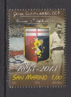 2013 San Marino Football & Cricket Team Complete  Set Of 1 MNH  @ BELOW FACE VALUE - Unused Stamps