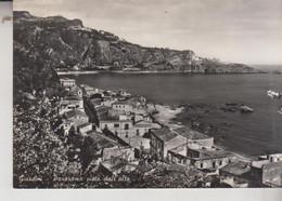 GIARDINI MESSINA  PANORAMA DALL'ALTO  VG  1957 - Messina
