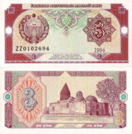 Uzbekistan, 3 Sum, 1994, P74, UNC - Uzbekistan