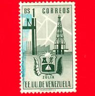 VENEZUELA - Usato - 1951 - Stemma Dello Stato Di Zulia - Arms - 1 - Venezuela
