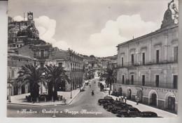 MODICA  RAGUSA  CASTELLO E PIAZZA MUNICIPIO   VG  1957 - Modica
