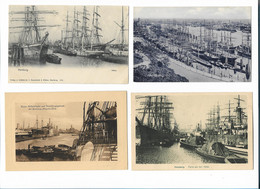 XX11930/  4 X AK Hamburg Hafen Ca.1900-15 - Otros
