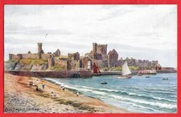 ISLE OF MAN    PEEL CASTLE  ART BY A R QUINTON  Pu C 1920 - Isle Of Man