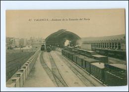 Y17514/ Valencia Estacion Del Norte  Bahnhof Eisenbahn AK Spanien Ca.1912 - Zonder Classificatie