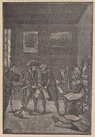 B7547 Caricatura Lavoro Costituzione - Dipanatrice Patriotica - 1890 Xilografia - Stampe & Incisioni