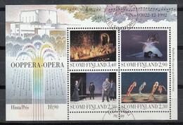 FINLANDIA 1993 - OPERA DE HELSINKI - YVERT Nº 1194-1197** EN BLOCK Nº 10** SPECIMEN - Unclassified