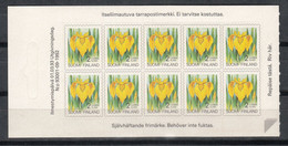 FINLANDIA 1993 - SERIE CORRIENTE - FLOR - YVERT Nº CARNET C1165 CON 10 SELLOS - Sin Clasificación