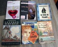 Lot De 6 Livres D'Auteurs Classiques - Wholesale, Bulk Lots