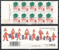 FINLANDIA 1993 - NAVIDAD - NOEL - CHRISTMAS - YVERT Nº CARNET C1198 A - SPECIMEN - Unclassified