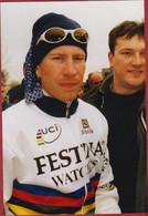 Unieke Foto Laurent Brochard 1998 Kuurne Brussel Champion Du Monde Wereldkampioen Cyclisme Wielrenner Coureur Cycling - Cycling