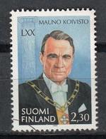 FINLANDIA 1993 - PRESIDENTE DE LA REPUBLICA MAUNO KOLVISTO - YVERT Nº 1201** - SPECIMEN - Unclassified