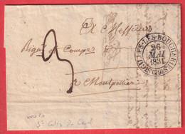 CAD TYPE 13 ST GILLES LES BOUCHERIES GARD 1831 INDICE 10 ST GILLES DU GARD POUR MONTPELLIER - 1801-1848: Precursores XIX