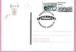 Poland 2018, 2 Sided Postcard GDANSK, Z.Plech, Sport, Speedway, Motorcycle Motorbike,LIMITED EDITION 200 Pcs - Moto
