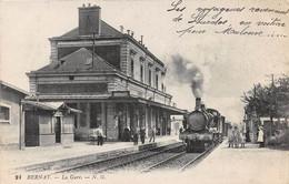 BERNAY - La Gare - Train - Bernay