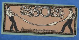 ALLEMAGNE BILLET FACTICE ANCIEN VENDU EN L' ETAT 50 PFENNING GLASMACHER BEI DER ARBEIT - Specimen