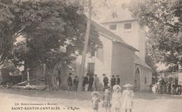 15 SAINT SANTIN CANTALES   L'eglise - Otros Municipios
