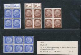** DR Hindenburg 4er U. 6er Blöcke 471/473 - Non Classificati