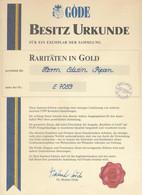"""* Göde Vordruckalbum, """"Raritäten In Gold Mit 19 Stck. Der Teuer Erworbenen Goldauflage-Marken Mit Zertifikat, Anschaffun - Non Classificati"""