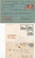 Gest. Album Mit 84 Stck. Zumeist Bedarfspost DR/Bund/DDR, Besondere Stempel/Versendeformen/Stalag Usw. Einfaches Materia - Non Classificati