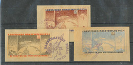 Gest. 3 Stck. Briefausschnitte Zucker-Raketenpost Thale 1934 - Non Classificati