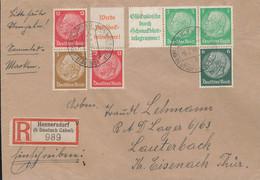 Gest., Brief DR Heftchenteile Auf R-Brief, Dabei W 88 Usw. - Non Classificati