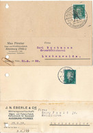 Gest., Brief 61 Stck. Geschäftskarten Alle Frankaturen Mit Firmenlochungen, Karten Mit Aktenlochung - Non Classificati