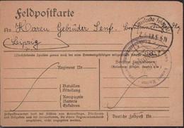 Gest. Feldpost Kaiserliche Marine Küsten-Bezirksamt Kurland 2.5.1919 FP 168 - Non Classificati