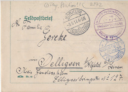 Gest. Feldpostbrief WK I Marine Seeflugstation Borkum - Non Classificati