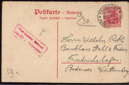 Gest. Feldpost WK I Abs. Stabschef Der St. Gotthard-Besatzung 29.5.1918 - Non Classificati