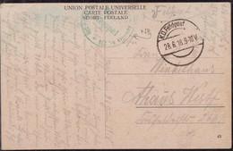 Gest., Brief Ak Finnland Feldpost WK I DFP 957 28.6.1918 - Non Classificati