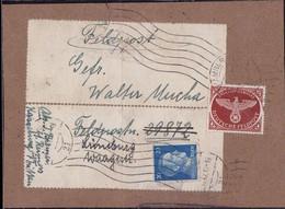 Gest. Dt. Reich Feldpost 2. WK Mi # 2 A Auf Kompletter Päckchenadresse - Non Classificati
