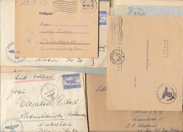 Gest., Brief Konvolut Von 400 Stck. Briefe/Karten Feldpost WK II, Teilweise Mit Inhalt, Recht Gehaltvoller Posten Für De - Non Classificati