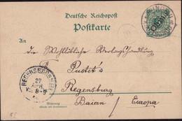 Gest., Brief China Kiautschou GSK P 1 1901 - Non Classificati