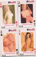 * Serie Von 54 Stck. Telefonkarten Mit Erotischen Motiven Als Kartenspiel, Kplt! - Collections