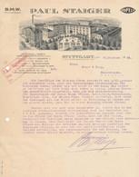 Stuttgart, Dekorative Firmenrechnung Opel Autohaus Paul Staiger 1926 - Unclassified