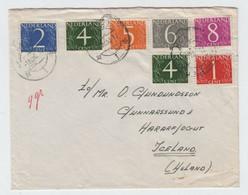 Pays Bas   Type Van Krimpen Pour L'Islande 1 Avril 1960 - Otros