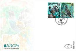 2021 EUROPA, FDC 3/21, Black Grouse, N° 564, Birds, Croat Post Mostar, Bosnia And Herzegovina, MNH - Bosnia Herzegovina