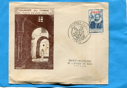 TUNISIE Enveloppe  Officielle Journée Du Timbre 1946- Cachet  TUNIS- Fouquet De La Varane - Unclassified