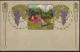 Gest. Jugendstildekoration, Prägekarte Erst 1916 Gelaufen - Non Classificati