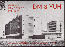 * DDR Funkstationskarte Mit Abbildung Bauhaus Dessau 1976 - Non Classificati