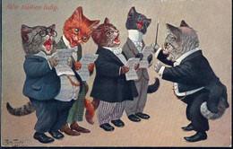 * Katzen Personifiziert Sign. A. Thiele TSN 1912 - Thiele, Arthur