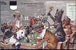 * Hunde Personifiziert Sign. A. Thiele FED 446 - Thiele, Arthur